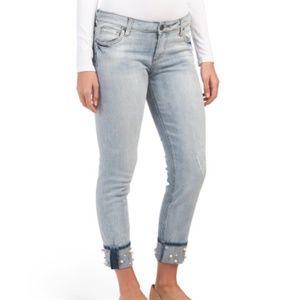 KUT FROM THE KLOTH embellish boyfriend ankle jeans